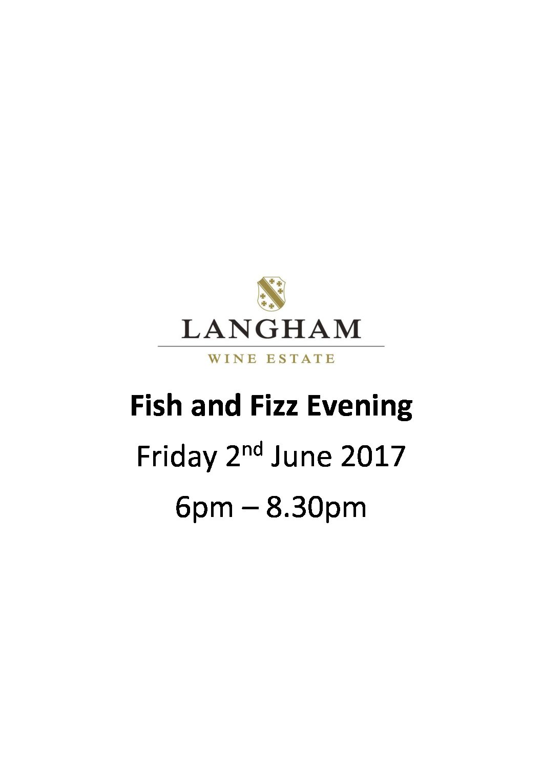 Fish and Fizz Evening