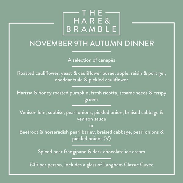 Langham Autumn Dinner Menu